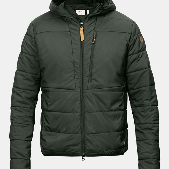 Fjallraven Mens Keb Padded Hoodie Deep Forest
