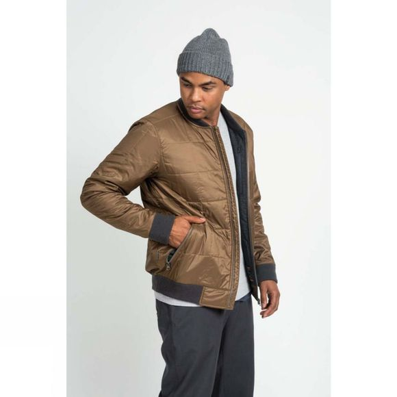 Icebreaker Mens Venturous Jacket Tobacco/Jet Heather