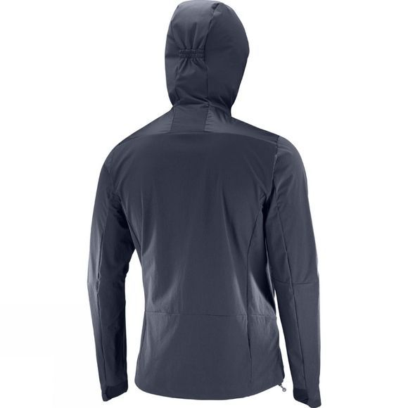 Salomon Mens Haloes Down Hybrid Hoodie Graphite