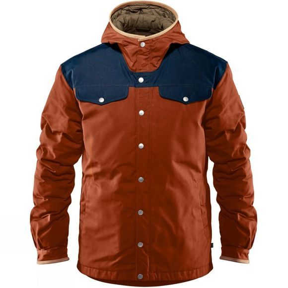 Fjallraven Mens Greenland No 1 Down Jacket Autumn Leaf/Night Sky