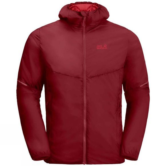 Jack Wolfskin Mens OPOURI PEAK Jacket Red Maroon