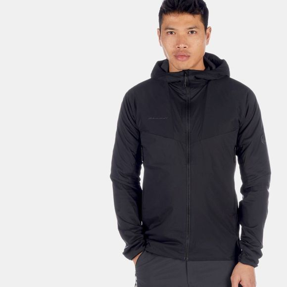 Mammut Mens Rime Light IN Flex Hooded Jacket Black