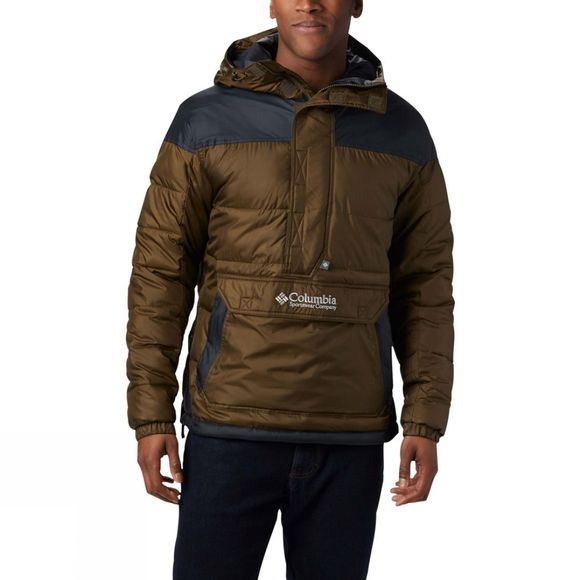Columbia Mens Lodge Pullover Jacket Olive Green/Black/Columbia Grey