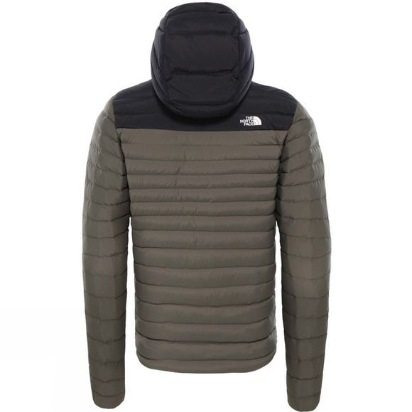 The North Face Mens Stretch Down Hoodie New Taupe Green/Tnf Black