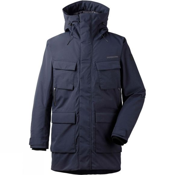 Didriksons Mens Drew Parka Dark Night Blue