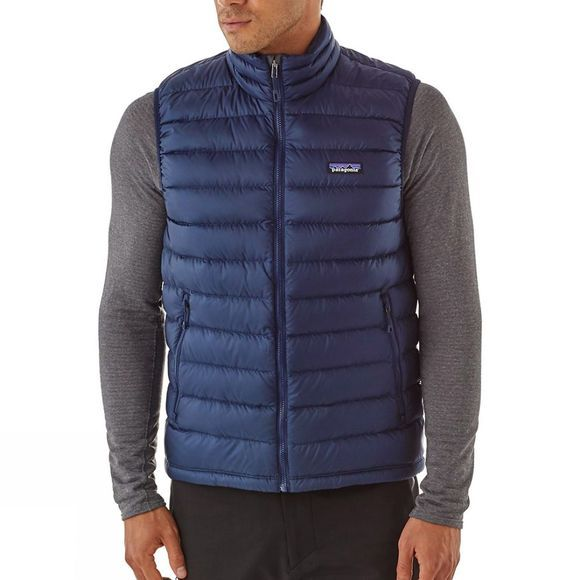 Patagonia Mens Down Sweater Vest Navy Blue w/Navy Blue