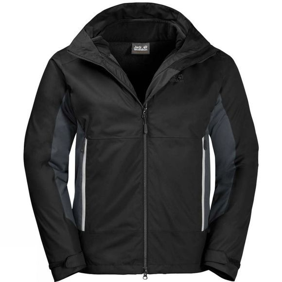 Jack Wolfskin Mens North Border 3In1 Jacket Black