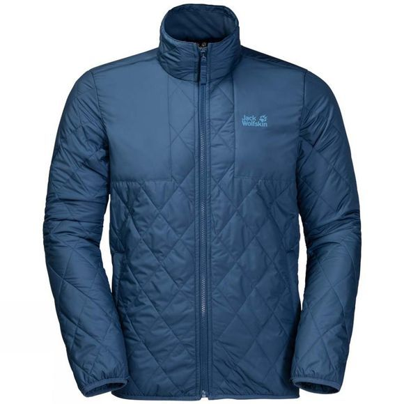 Jack Wolfskin Mens Fjaerland 3In1 Jacket Night Blue
