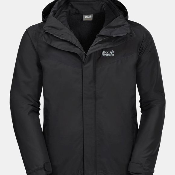 Jack Wolfskin Mens Arland 3In1 Jacket Black
