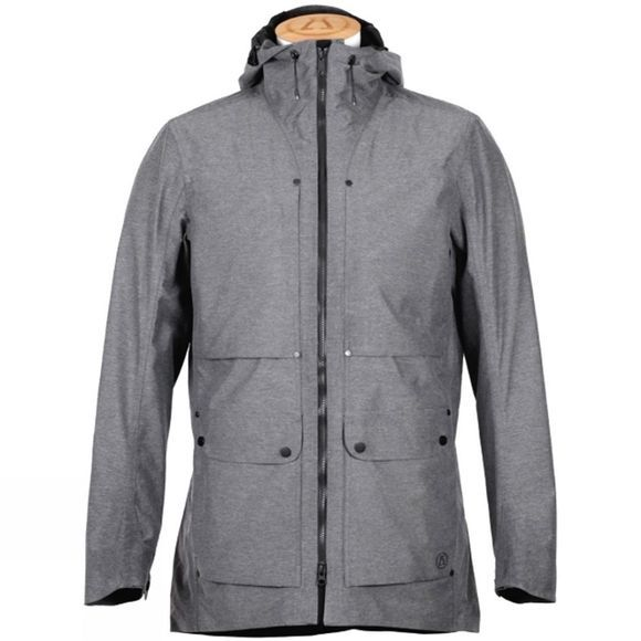 Alchemy Equipment Men's Pertex Shield + Field Jacket Mid Grey Herringbone