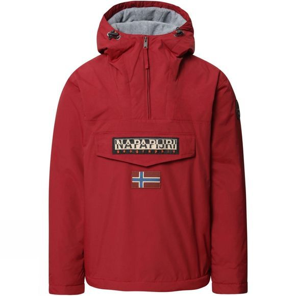 Napapijri Mens Rainforest Winter Jacket Red Bourgogne