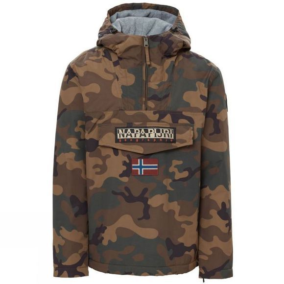 Napapijri Mens Rainforest Camou 1 Anorak Fantasy