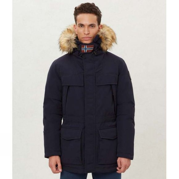 Napapijri Mens Skidoo Open Long Parka Blue Marine