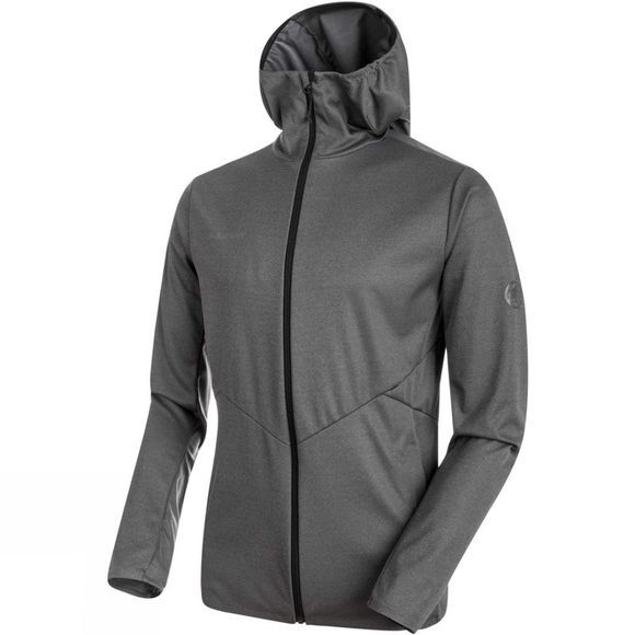 Mammut Mens Ultimate V Tour SO Hooded Jacket Black Mélange
