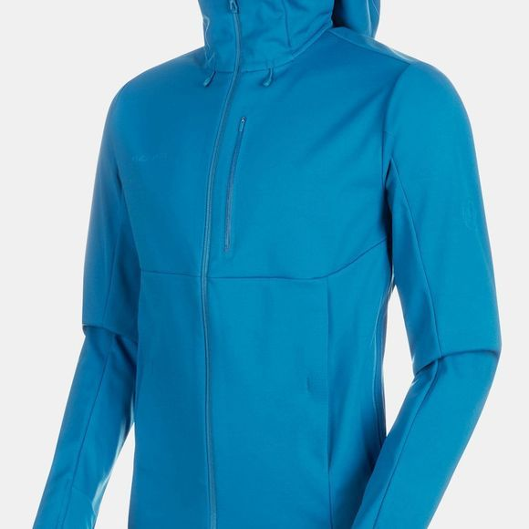 Mammut Mens Ultimate V SO Hooded Jacket Sapphire-Wing Teal Melange