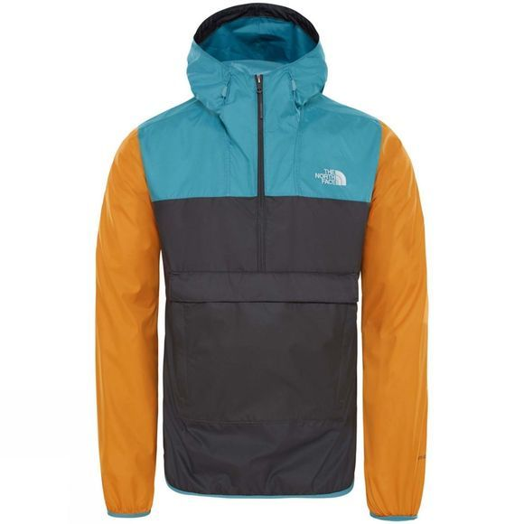 The North Face Fanorak Jacket Asphalt Grey/Storm Blue/Citrine Yellow