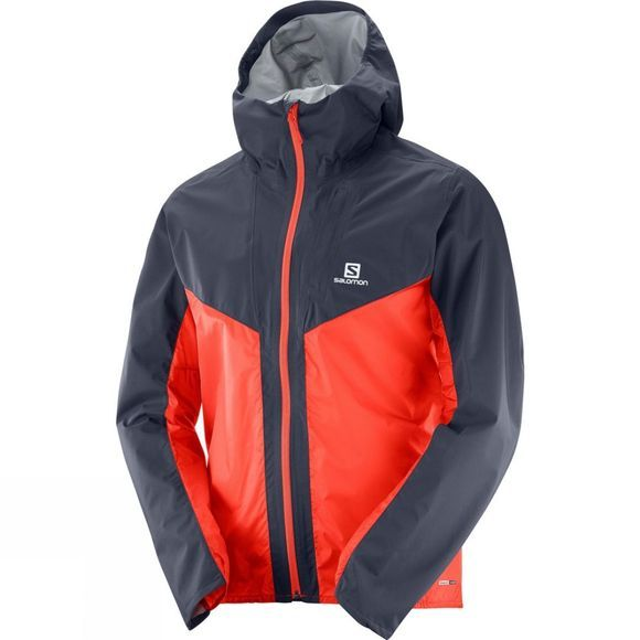 Salomon Mens Outspeed Hybrid Jacket Graphite/Fiery Red