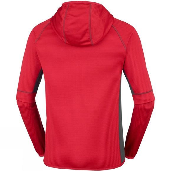 Columbia Mens Triple Canyon Hooded Fleece Mountain Red/Shark