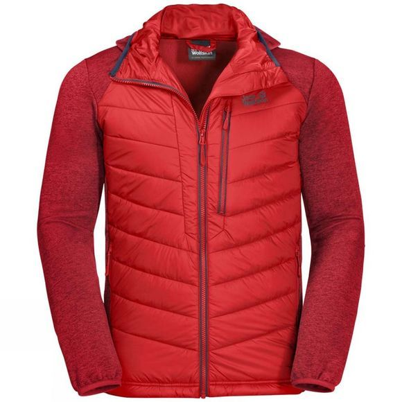 Jack Wolfskin Mens Skyland Crossing Fleece Fiery Red