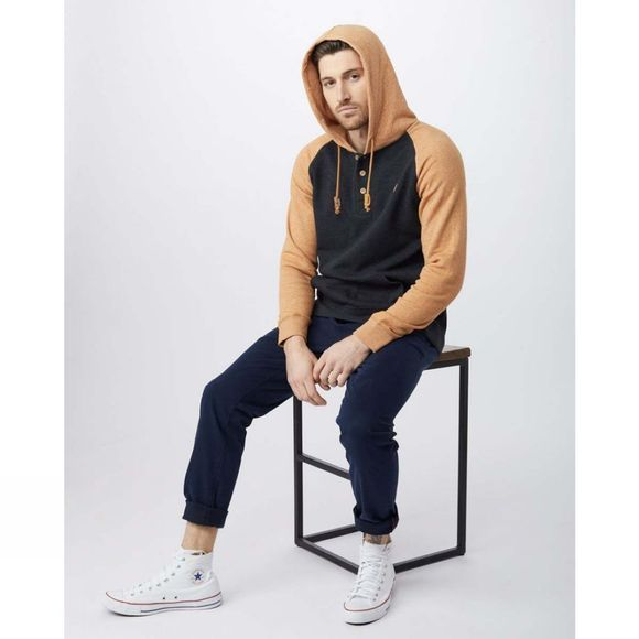 Tentree Mens Oberon Hoodie Meteorite/Brown Sugar