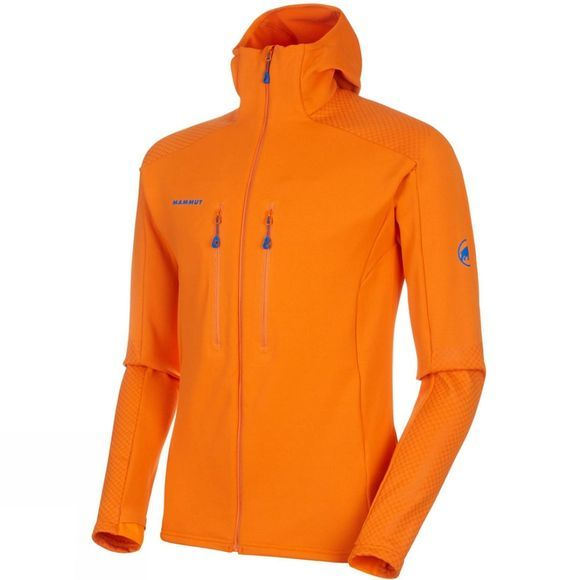 Mammut Mens Eiswand Advanced Midlayer Hoody Sunrise