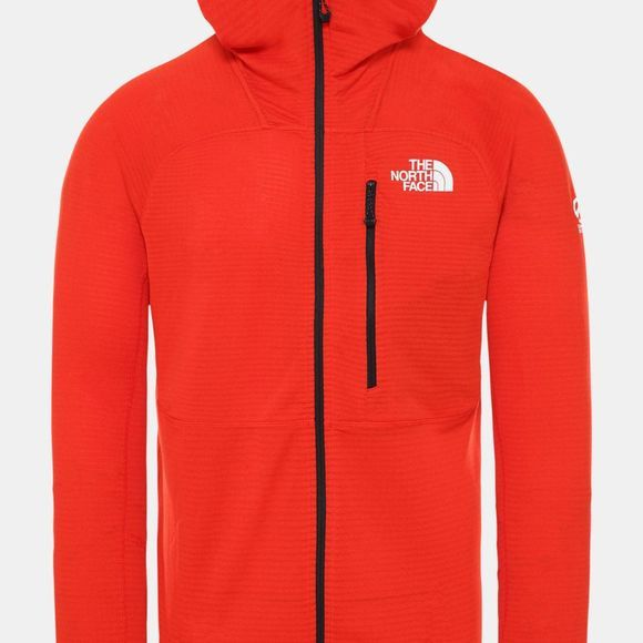 The North Face Men's Summit L2 Power Grid LT Hoodie Fiery Red