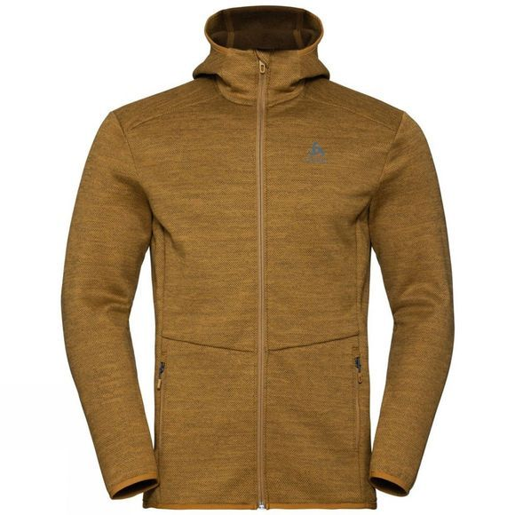 Odlo Mens Haven X-Warm Midlayer Hoody Golden Brown