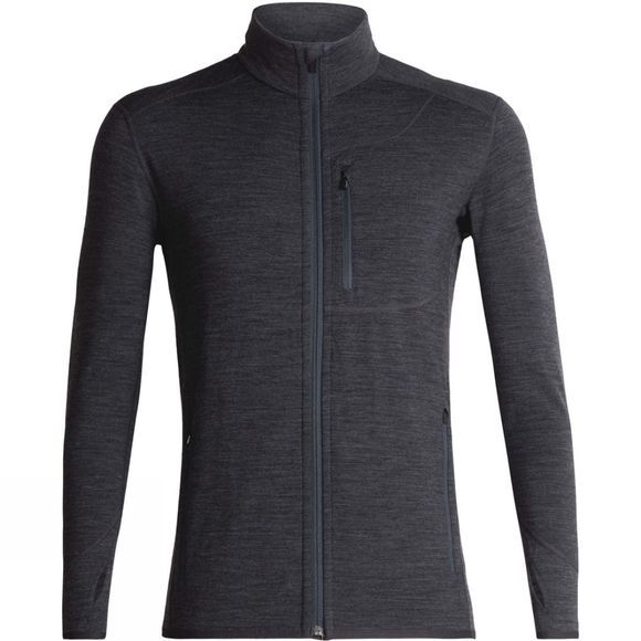 Icebreaker Men's Descender Long Sleeve Zip Jet Heather