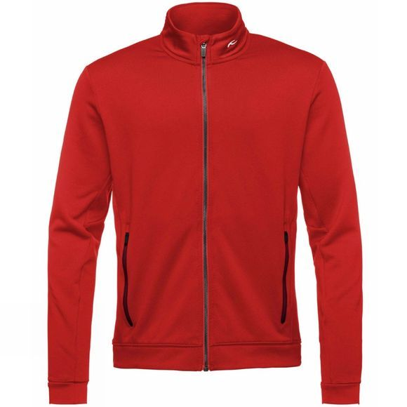 KJUS Men's Diamond Fleece Jacket Scarlet