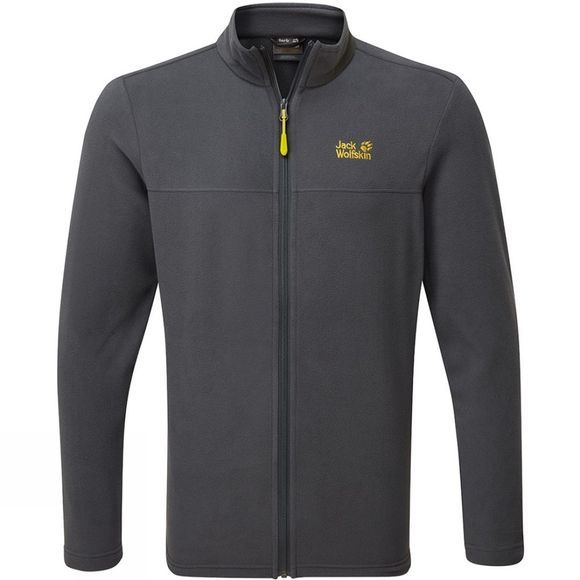 Jack Wolfskin Mens Tokee Full Zip Fleece  Ebony
