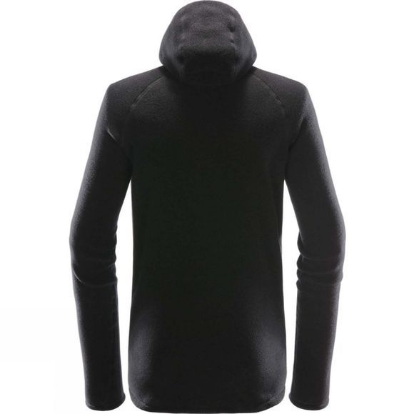 Haglofs Mens Micron Wool Hooded Fleece True Black