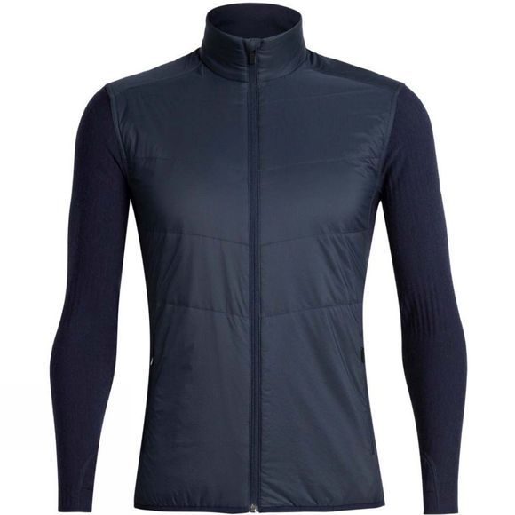 Icebreaker Mens Descender Hybrid Jacket Midnight Navy
