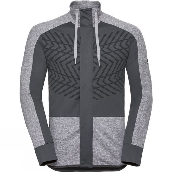 Odlo Mens Skadi Light Midlayer Grey Melange - Odlo Graphite Grey