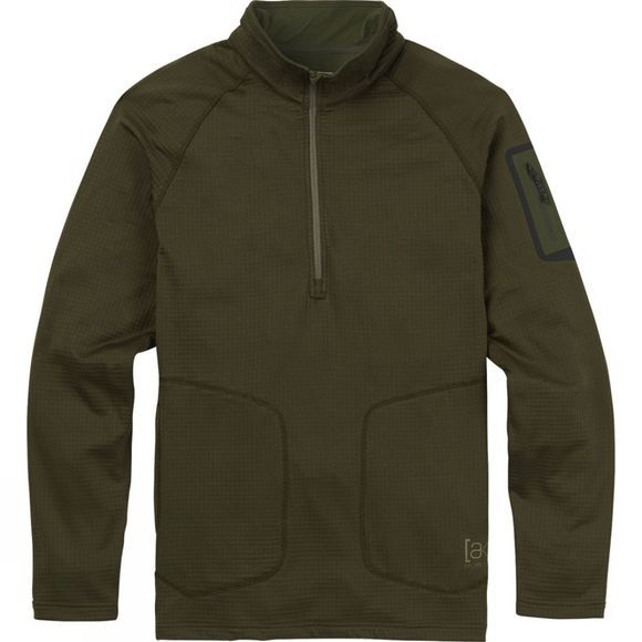 Burton Men's AK Grid Half Zip FOREST NIGHT