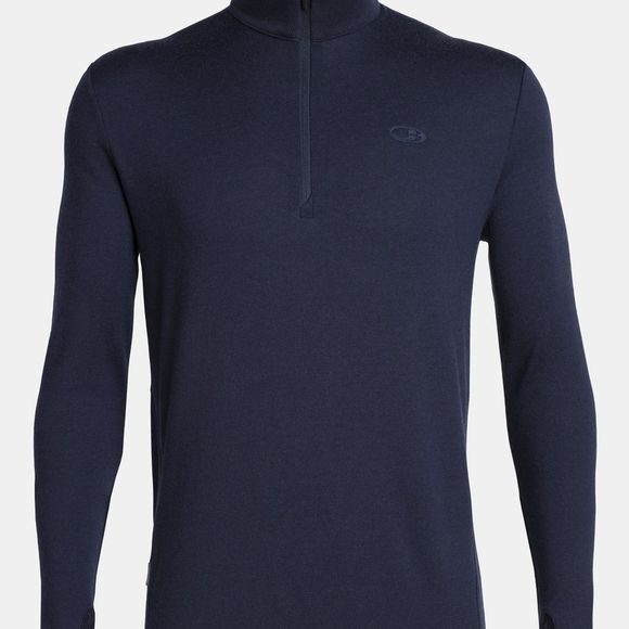 Icebreaker Men's Original 320 Long Sleeve Half Zip Midnight Navy