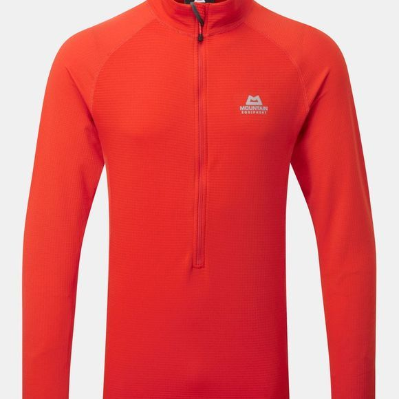 Mountain Equipment Men's Eclipse Zip Tee Cardinal Orange