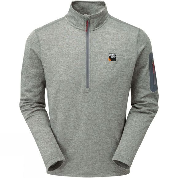 Sprayway Mens Saul Half Zip Jacket Chrome