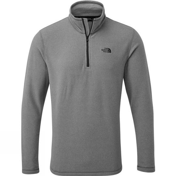 The North Face Mens Cornice II 1/4 Zip Fleece TNF Medium Grey Heather