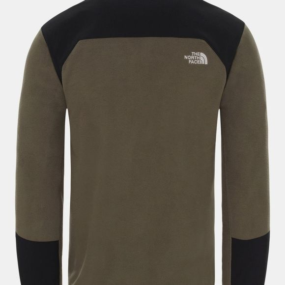 The North Face Mens Glacier Pro 1/4 Zip Fleece New Taupe Green/Tnf Black