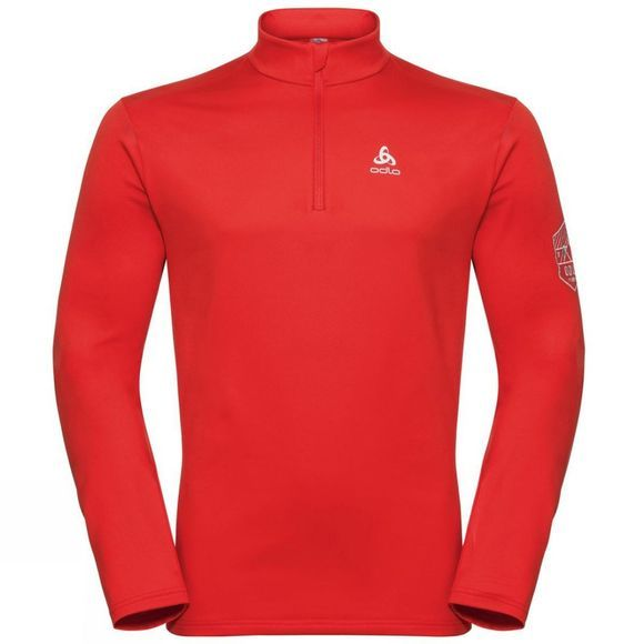 Odlo Mens Cavradi 1/2 Zip Midlayer Fiery Red