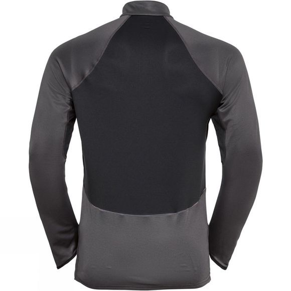 Odlo Mens Zeroweight Ceramiwarm 1/2 Zip Midlayer Black