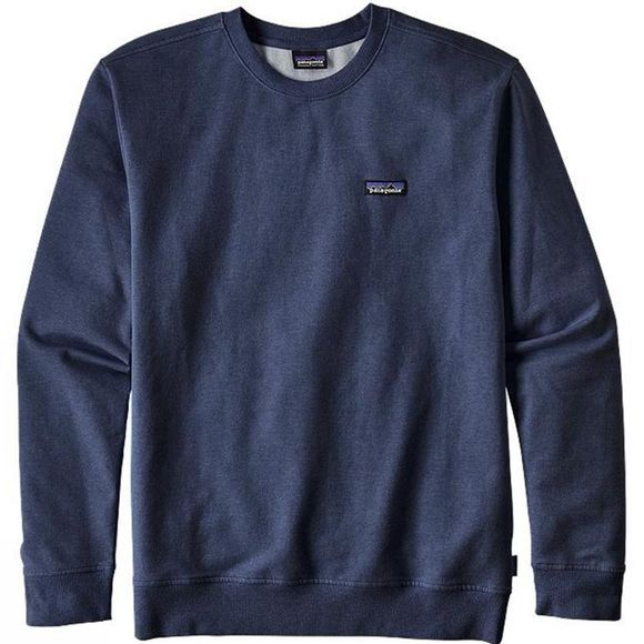 Patagonia Mens P-6 Label Midweight Crew Sweatshirt Navy Blue