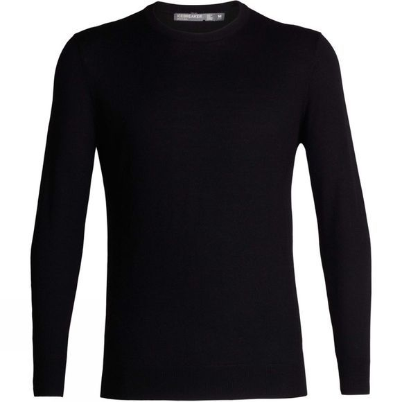 Icebreaker Mens Shearer Crewe Sweater Black