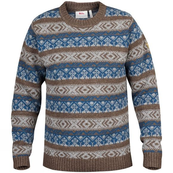 Fjallraven Mens Övik Folk Knit Sweater Storm