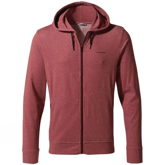 Craghoppers Mens NosiLife Tilpa Hood Jacket Firth Red Marl