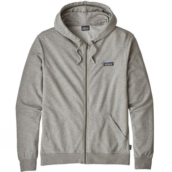 Patagonia Mens P-6 Label Lightweight Full Zip Hoody Feather Grey