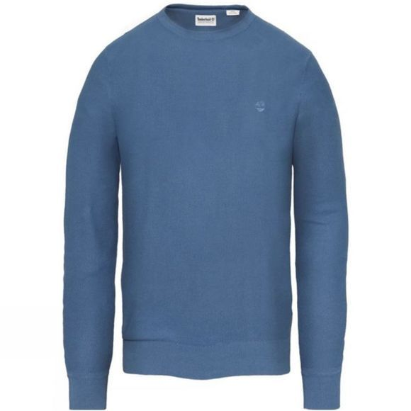 Timberland Mens Manhan River Lightweight Sweater Ensign Blue