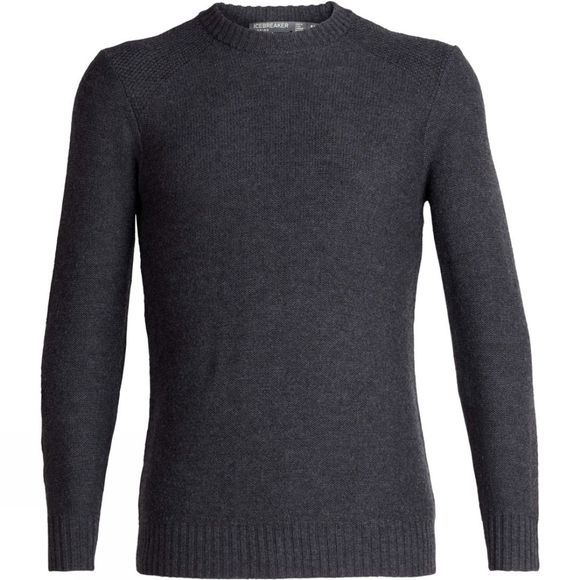 Icebreaker Mens Waypoint Crew Sweater Charcoal Heather