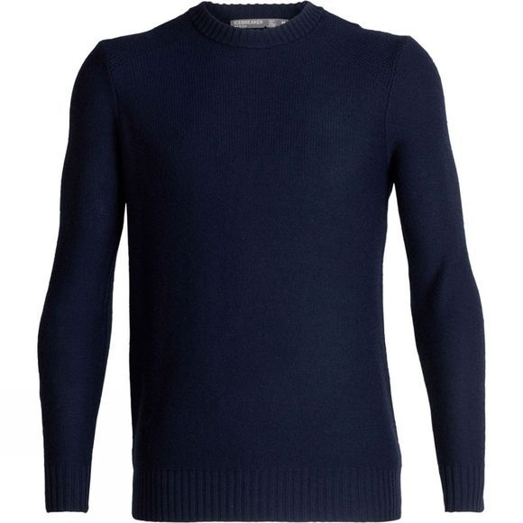 Icebreaker Mens Waypoint Crew Sweater Midnight Navy (AW18)