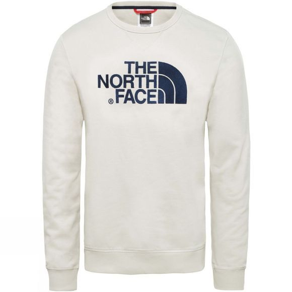 The North Face Mens Drew Peak Crew Light Sweatshirt Vintage White
